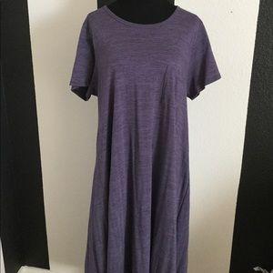 LuLaRoe Heathered Purple Carly Dress